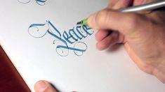 Parallel Pen Calligraphy - Peacemaker (Thomas Brunton)