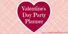 Valentine's Day Party Planner for kids