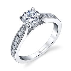 Classic engagement ring by Sylvie Collection