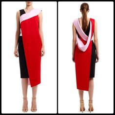JOSH GOOT ✂️ Cut & Paste Asymmetrical Dress NWOT This sleeveless asymmetric crepe Josh Goot dress features darting at the bust, cut work at the waist and two-tone asymmetric draping at the bodice and skirt. Exposed zip left side closures 56% viscose, 40% silk, 4% elastane with 100% viscose. Unlined. Made in Australia. The poshest re-posh. Absolutely incredible but not right on my body type.  NWOT - has been dry cleaned by me to ensure its perfect for new home since it's a re-posh. Josh Goot…