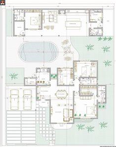 Pinterest: @claudiagabg | Casa 3 cuartos piscina 1 habitación estudiantil