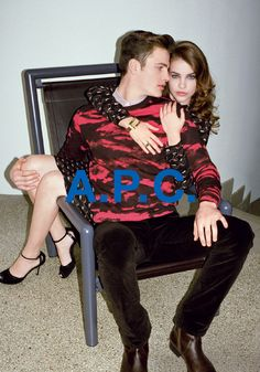 Jan Aeberhard and Barbara Palvin shot by Walter Pfeiffer. Winter 2013 collection, now available on apc. Campaign Fashion, Ad Fashion, World Of Fashion, Editorial Fashion, Fashion Models, Barbara Palvin, Lookbook Layout, Fashion Advertising, Cool Style