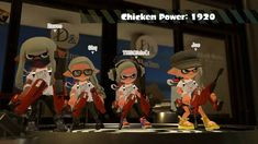 Splatoon matching weapons two guns  Dual Squelchers. white ink color splatfest Team chicken.