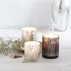 Faux Bois Mercury Candles #westelm (might have to work the paint to gt this look or try....? tlh)
