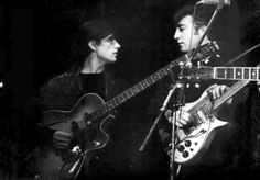 Stuart Sutcliffe and John Lennon. Photo by Astrid Kircherr