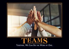 Together, we can do the work of one.