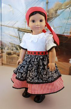 "American Girl 18"" Doll Pirate Costume...so adorable! Inspiration"