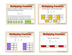 MULTIPLYING FRACTIONS TASK CARDS - TeachersPayTeachers.com