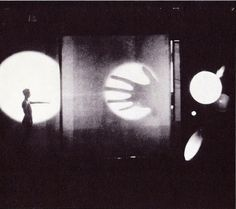 Light Play with Projections from Bauhaus Theater. Moholy-Nagy referred to this idea as the theater of totality Walter Gropius, Bauhaus, Sainte Cecile, Laszlo Moholy Nagy, Experimental Photography, Photocollage, Santa Lucia, White Aesthetic, The Villain