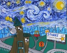 "Parody of Van Gogh's ""Starry Night"" by Tony Juliano"