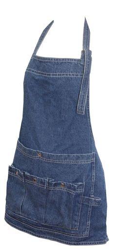 Förkläde i jeanstyg