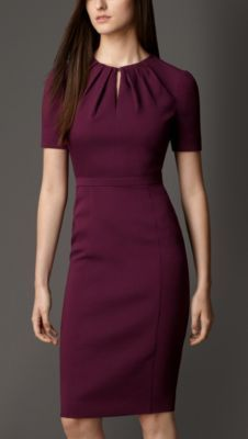 Pleat Neck Dress in beautiful color