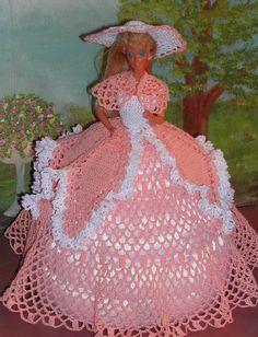 Crochet mode poupée Barbie patron 162 Sud par JudysDollPatterns