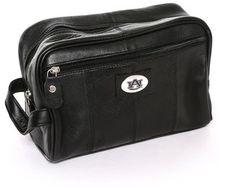 NCAA Auburn Tigers Black Leather Shave Kit