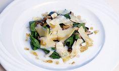 Salada de rúcula com parmesão