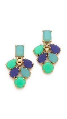 Kate Spade New York Boardwalk Stroll Chandelier Earrings | SHOPBOP