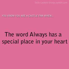 You know you are a Castle fan Watch Castle, Castle Quotes, Richard Castle, Castle Tv Shows, Castle Beckett, Abc Shows, Be A Nice Human, Stana Katic, Best Shows Ever