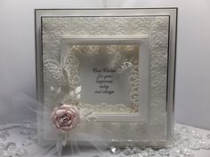 Tuesday's Design Team Inspiration (Creative Expressions Papercraft and Scrapbooking Products) Wedding Anniversary Cards, Wedding Invitation Cards, Wedding Cards Handmade, Handmade Cards, Scrapbooking, Embossed Cards, Paper Frames, Butterfly Cards, I Card