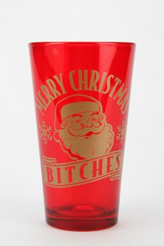 Merry Xmas Pint Glass #urbanoutfitters