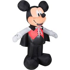 Disney halloween #mickey #mouse vampire 5' yard decor prop #inflatable by gemmy,  View more on the LINK: http://www.zeppy.io/product/gb/2/262230613482/