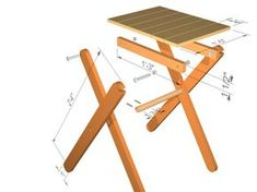 collapsible diy table | Here are the dimensions and larger pictures of this project. Just ...