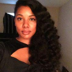 Voluminous Wand Curls on Natural Hair