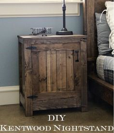 End tables for the my bedroom? How to build end tables or nightstands. Free simple step by step DIY plans to build nightstands inspired by Restoration Hardware Kenwood Nightstand. I absolutely love restoration hardware. Rustic Furniture, Diy Furniture, Furniture Online, Furniture Stores, Antique Furniture, Wicker Furniture, Pallet Bedroom Furniture, Pallet Dresser, System Furniture