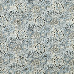 Wide Fabric, Paddock Shawl Paisley Color Porcelain, Waverly Paisley Fabric By the Yard Fabric Wallpaper, Of Wallpaper, Pattern Wallpaper, Paisley Fabric, Blue Fabric, Paisley Pattern, Drapery Fabric, Fabric Decor, Drapes Curtains