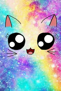 Cute wallpaper & kawaii backgrounds for girls ! Unicornios Wallpaper, Rainbow Wallpaper, Kawaii Wallpaper, Cute Wallpaper Backgrounds, Wallpaper Iphone Cute, Pretty Wallpapers, Galaxy Wallpaper, Iphone Backgrounds, Black Wallpaper