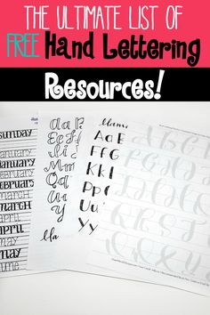 I'm trying to improve my hand lettering this year so I can use it in my bullet journal.  This is a big list of free hand lettering resources. Free courses, practice worksheets, video tutorials and more!