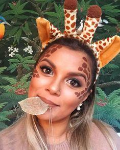Giraffe Halloween Makeup Ideas is part of Giraffe Halloween Makeup Ideas Popsugar Beauty - An interesting post from POPSUGAR Beauty Australia Check it out! Costume Halloween, Halloween 2019, Halloween Make Up, Halloween Party, Halloween Ideas, Jungle Costume, Giraffe Costume, Animal Costumes, Diy Costumes