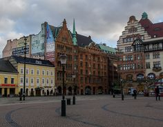Downtown Square in Malmo, Sweden by virtualwayfarer, via Flickr