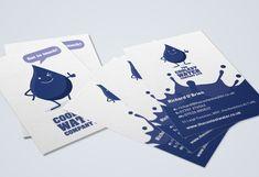 Portfolio project: The Coolest Water Ltd business cards | Beehive Green Design Studio
