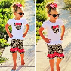 Minnie Giraffe Polka Dot Short Boutique Set. #boutique-outfits #new #perfect-sets #spring-line