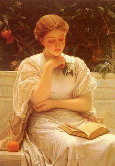 In The Orangery  Charles Perugini, [British Painter, 1839-1918]