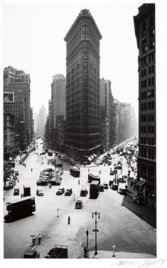 Flatiron Building in New York. By Berenice Abbott