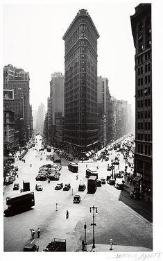 Flatiron Building in New York. By Berenice Abbott
