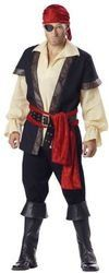 WMU - Men's Costume: Pirate- Large - Click image twice for more info - See a larger selection womens men's pirate costume at http://costumeriver.com/product-category/men/ - mens, holiday costume , event costume , halloween costume, cosplay costume, classic costume, scary costume, pirate, classic costume, clothing