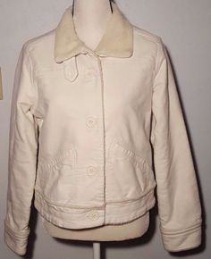 American Eagle Outfitters Women's White Warm Jacket Coat Size L (10-12) #AmericanEagleOutfitters #BasicJacket #Outdoor