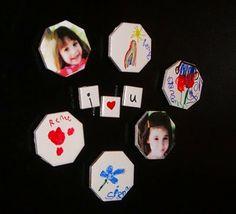 Home Confetti: DIY Tile Magnets