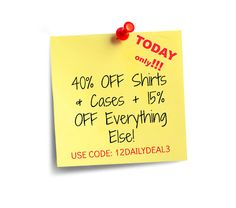 Today only ♥ 40%off shirts & cases