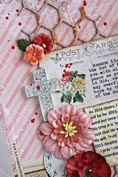 Triple the Scraps: A {Layout} and a Card for Blue Fern Studios