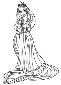 The Band Pretty Tangled Coloring Page