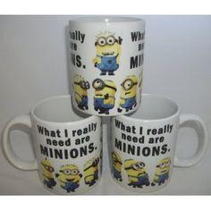 What I really Need Are Minions Ceramic Mug ...oh my gosh... I NEEED this *___*