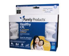 CFL Bulbs that clean the air in your home | Purely Products 15 Watt Healthy CFL, 4-Pack