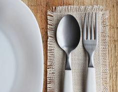 Cutlery coasters make a lovely addition to a place setting.