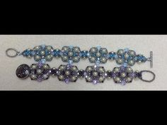 Charming Squares Bracelet Tutorial by Gina Moody.  Brand new today! 6-9-14