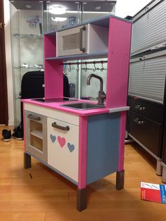Ikea play kitchen customised by me! :)