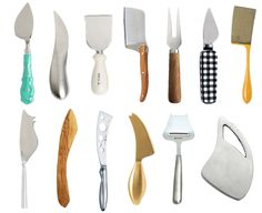assorted cheese knives