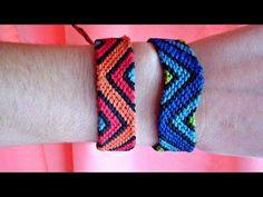 DIY Macrame bracelet in two colors, easy and fast Friendship Bracelets Tutorial, Diy Bracelets Easy, Bracelet Crafts, Friendship Bracelet Patterns, Bracelet Tutorial, Macrame Knots, Macrame Bracelets, Micro Macramé, Macrame Patterns